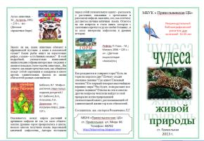 Буклет Привольненской ЦБ 2