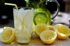 Homemade Lemonade to help beat the heat.